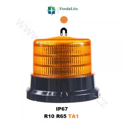 Orange LED beacon 911-75m by FordaLite